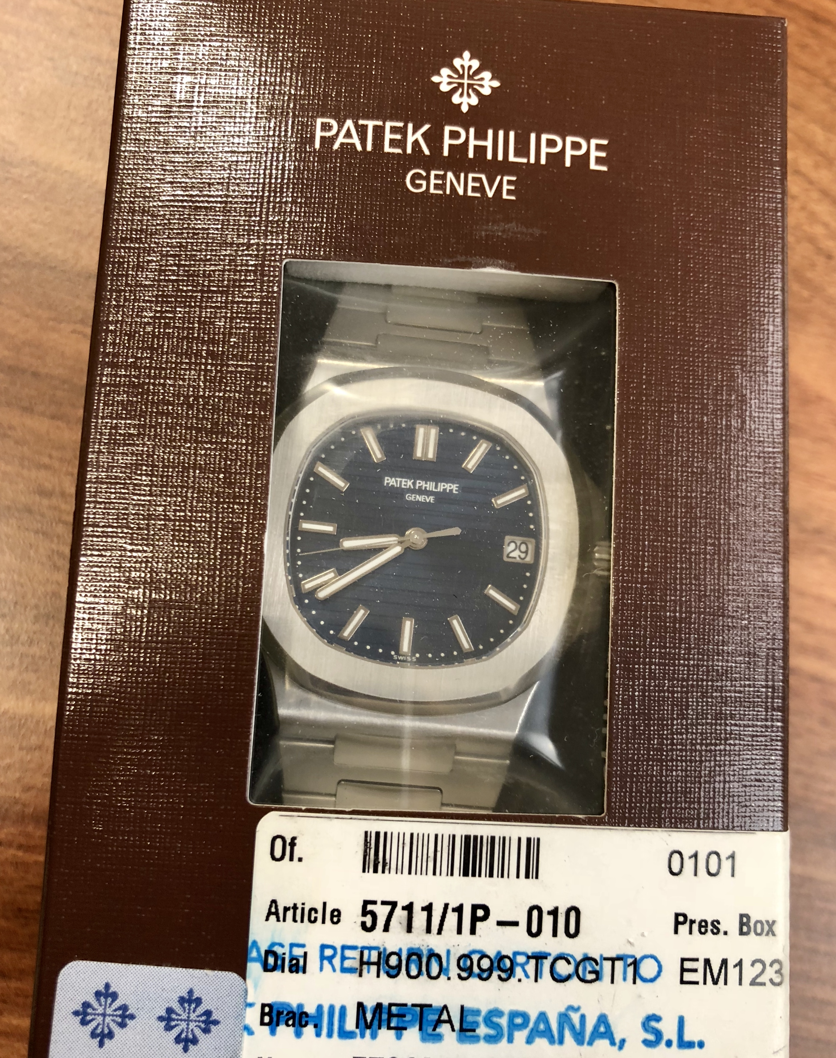 63502a1be0e Patek Philippe Nautilus 5711P Extremely Rare 1st Series Sealed